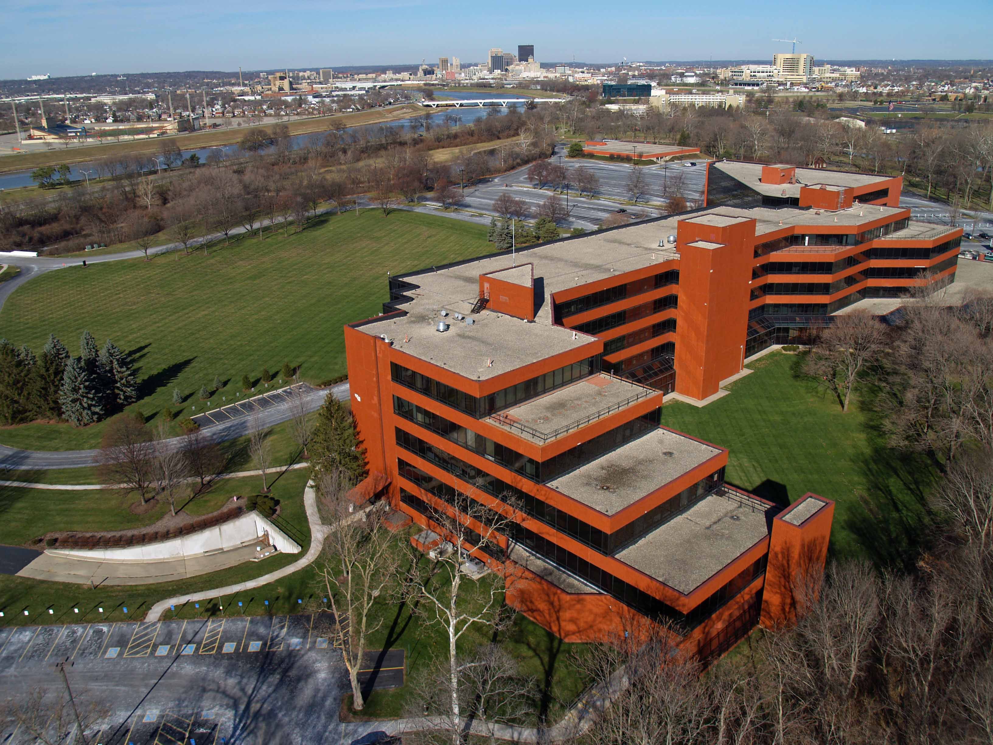Dayton Ohio Drone Aerial Photo University of Dayton Research Institute
